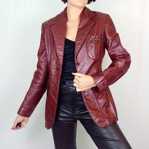 70's Etienne Aigner leather jacket